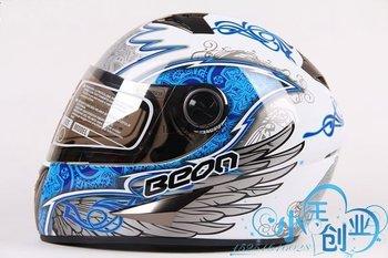 Freeshipping BCM001# BEON B-500 Classic Full Face Helmet Winter Helmet Racing Helmet International Version Motorcycle HelmetsN9