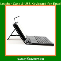 10'' USB tablet PC leathe  keyboard case Russian lettle keyboard case for all tablet pc
