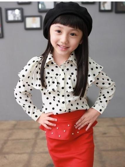 أحلى ملابس للأطفال Freeshipping-new-girls-blouse-children-shirt-korean-fashion-long-blouse-children-s-garment-dot-Princess-white
