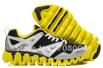Free shipping Wholesale Running Shoes Zig Tech Zigtech Black White Yellow Sport Sneakers