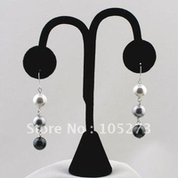 Dangle Pearl Earring 10mm MultiColor Pearl Sterling Silver French Wires Fashion Woman's Jewelry Wholesale Free Shipping FN353