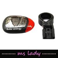 bike led light solar power energy free shipping HK airmail