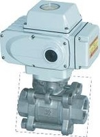 3 INCH(DN80) 3PC ELECTRIC BALL VALVE WITH THREAD,100WOG, 200N*M ACTUATOR, OFF/ON