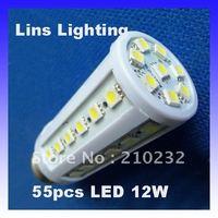 E27 5050 SMD 55 LED 12W Corn Light Bulb Energy Saving Lamp 200V-230V White/Warm White Epistar Chip