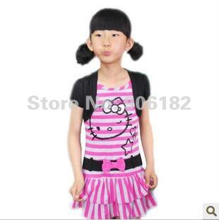Kitty pink skirt girls t shirt dress girls dress skirt kids dress
