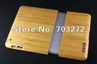 5pcs/lot Hand Carved Natural Bamboo Wood Wooden Case Cover for iPAD 2 2th