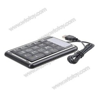 Computer 19-Key Numeric USB Keyboard Keypad/Numpad for Laptop Desktop Black (130CM Cable)