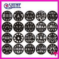 60 pcs different designs A series Nail Art Stamping Stamp Design Image Template Plate Dia 7 cm