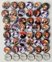 3cm Bleach Ichigo Renji Byakuya Fashion pin Badge 40pc lot NEW JAPAN ANIME