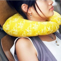 Japanese style bamboo charcoal Pillow Comfortable Cushion U-shaped neck Mat Travel pillow