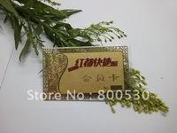 customize golden metal VIP cards