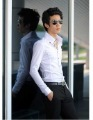 Free Shipping New Mens Shirts Casual Slim Fit Stylish Dress Shirts US size XS,S,M,L, 5 Colour High collar shirt,ST1250