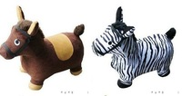 1piece, Free Shipping, Inflatable Jumping Animal, Skipping Animal, Kid's Toy, Horse, Cow, Zebra, deer