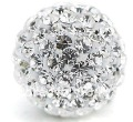 20pcs 10mmShamballa Crystal Pave Balls,  Beads Jewelry Findings Fit Charm European Bracelet Disco Beads free shipping yst194