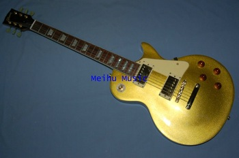 (Free shipping)Standard Electric Guitar Metal yellow color cheap chinese replica