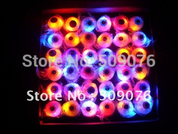 Free shipping 108pcs/lot  3*3*4cm TPR led flashing ring flashing finger lights  for parties