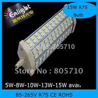 6W 8W 10W 12W 15W  LED R7S Lamps CE ROHS 85-265V AC 5pcs/lot