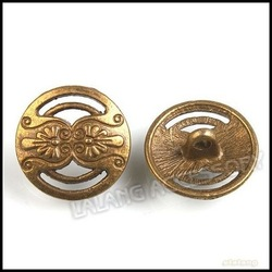 150 pcs/lot Wholesale Antique Bronze Metal Buttons 17mm Flower Alloy Garment Sewing Buttons 160654(China (Mainland))