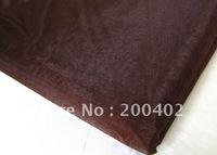 chocolate   organza sheer organza fabric for wedding backdrop decorate