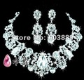 PROMOTION+FREE Wholesale 6Sets Czech Rhinestone necklace&earring Bridal/Wedding jewelry Necklace Sets