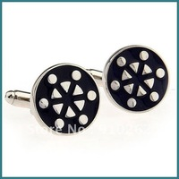 Free Shipping Cufflinks, Novelty Cufflinks with Black Enamel Cufflinks, Classical Pattern Cufflinks, Hot Sale Cufflinks