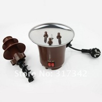 [365+1Days]wholesale-tainless Steel 3-Tier Chocolate Fountain Fondue 1pc Free Shipping