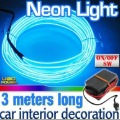 3M Flexible Neon Light Glow EL-WIRE Rope Car Party Blue Strip