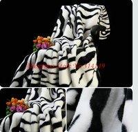 Free Shipping,ZEBRA STRIPE Anti-Pilling 150*200cm Rachel Coral Fleece Blanket,Towel Blanket,High Quality,Wholesale,Hot Sale