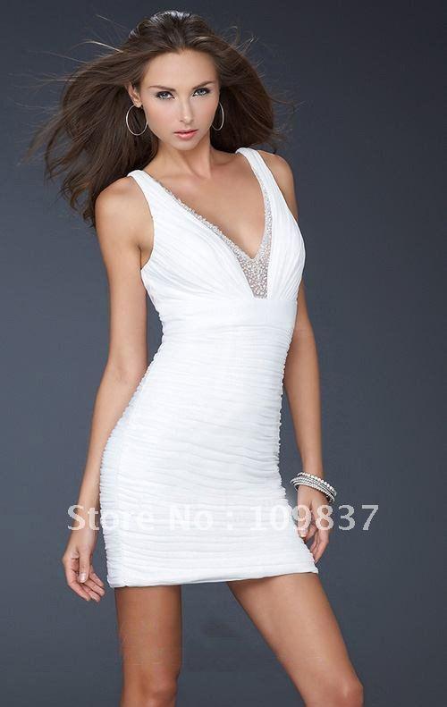neck Epire Sheath Mini Chiffon Beaded Prom Gown Party Dress 2012 W-011