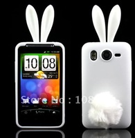 For HTC desire HD G10 A9191 Rabbit silicone cartoon TPU case with high quality, Free shipping 1pcs Min order