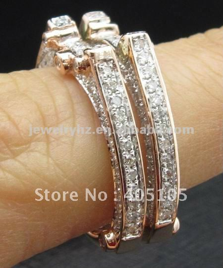 Item N02211 Matching Band! Natural Diamond Solid 14kt Rose Gold, Custom Design(China (Mainland))