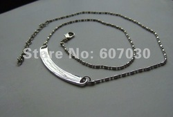 20pcs Curved DIY Necklace , Diy accessory Fit Necklace can through slide charms or letters(China (Mainland))