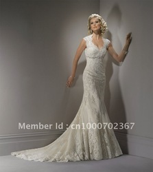 New Arrival Best Selling Sleeveless Mermaid Trumpet Organza Designer Wedding Dresses Bridal Gown(China (Mainland))