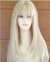 Brand New Hot Fashion Beautiful lady sexy stylish charming Long straight Blonde women's wigsfree shipping