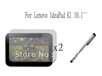 New Clear LCD Screen Protector  Film+ Stylus For Lenovo IdeaPad K1 10.1`` ,free shipping!!!