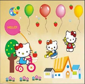 Hello Kitty Wall Sticker Promotion-Shop for Promotional Hello ...