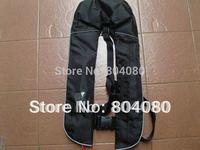 Hot Sale Guranteed 100% Nylon shell fabric Manu Inflatable life jackets of 150N + free shipping