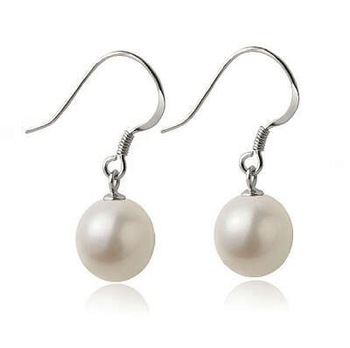 Wholesale & Retail for Earring Mosaic Natural Pearl in 925 Silver and White Gold, 925 Silver Earring,Top Quality!!(T0345)
