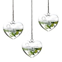 heart shape  ceiling hanging ball flower vase, drop ball, home or wedding decoration