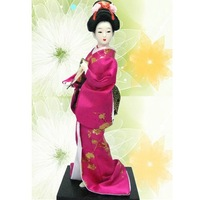 Japanese Geisha Doll  Collect Doll 12 inch Mix style Color Chinese Silk  Handcrafts with Packing box  8pcs/pack