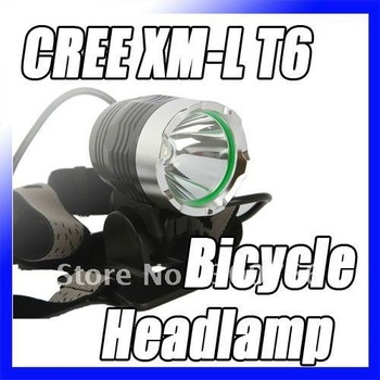 CREE XM-L T6 Bicycle Light HeadLight 1200 LM 3 Mode Waterproof Bike Front Light LED HeadLamp+Charger