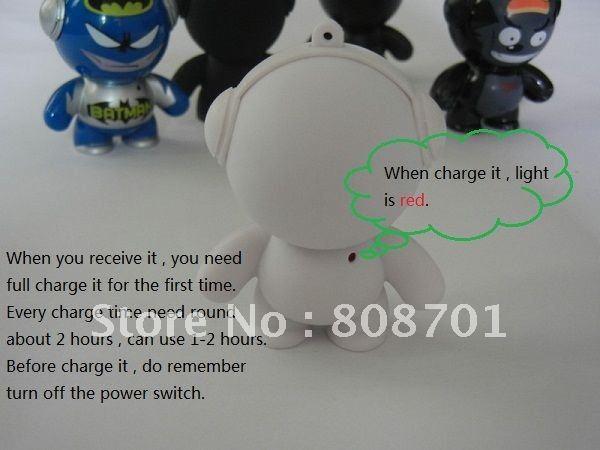 Mini Speaker Monster Cartoon Speaker Portable Speaker SIMS Speaker Pure Tone 100pcs Free Shipping Best Gift(China (Mainland))