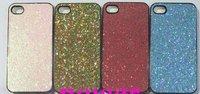 1000pcs sale Glitter hard back case cover bling shining case leather stick For 4