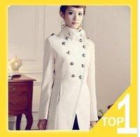 Women coat fashion overcoat/ Napoleon military uniform double breast winter coat /jacket outerwear/Military style Jacket Y0092
