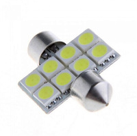 White 6 SMD LED Car Interior Festoon Bulbs 42mm New