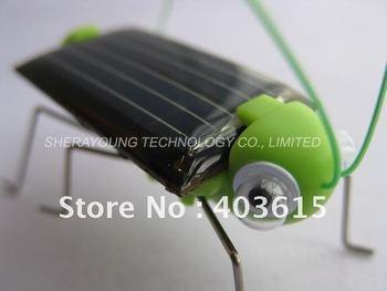Free shipping Funny Solar Grasshopper, Solar Mini Car, Solar cockroach, Solar Powered Bug Educational Toy
