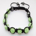 Fashion Jewelry,Wholesale, free shipping,10mm New Tresor Paris Shamballa Bracelets Micro Pave CZ Disco Ball Bead SA15