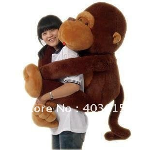 42'' /110CM stuffed monkey toy, plush monkey, Giant monkey stuffed animal Valentine gift for Girls Free shipping Christmas Gift