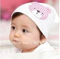 Cartoon cute bear baby hat /good quality/ with lovely cute bear/knitted hat/ baby hats / children cotton hats / kids cap