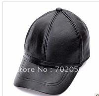 Baseball CAP Cap Leather With Adjustable Strap Stylish Baseball Ball Cap Hat hats 10pcs/lot